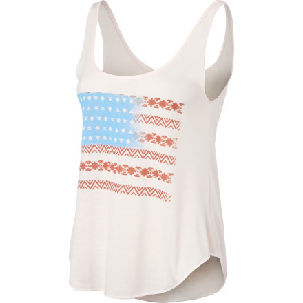 Surf Whether its the Fourth of July or you just want to show your support, reach for the Billabong Women's Flag Facts Tank Top. - $23.95