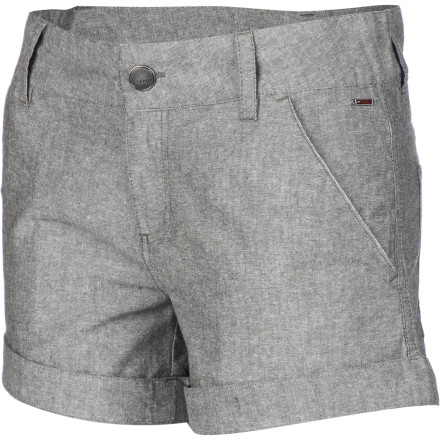 The Arbor Clementine Women's Short is the perfect everyday summer piece for hot days and warm nights. Lightweight cotton chambray fabric helps you stay cool, and the versatile look can range from casual to classy depending on the occasion. - $59.95