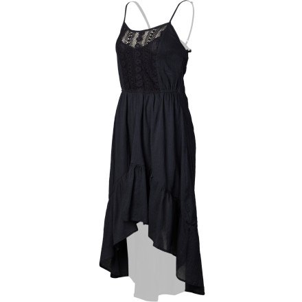 "The Element Women's Indio Dress gives you the ""well-helllloooo-there"" look from your partner that you've been hoping for. It's drop-hem maxi style, spaghetti straps, and crochet front details provide you with a stunning, feminine look. - $54.45"
