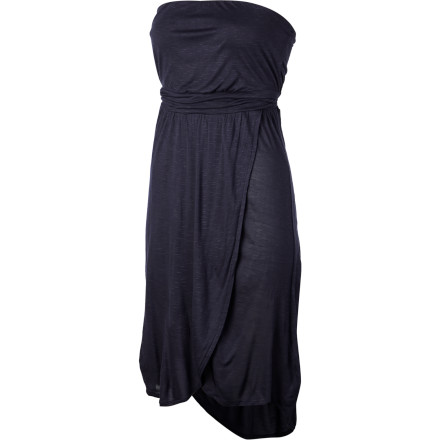 The QSW Harbor Dress uses silky fabric and a refined design to keep you looking your best at dressed-up parties when you have to step it up in the style department. Pair this strapless frock with heels and a bit of bling, and you're ready for the night. - $58.00