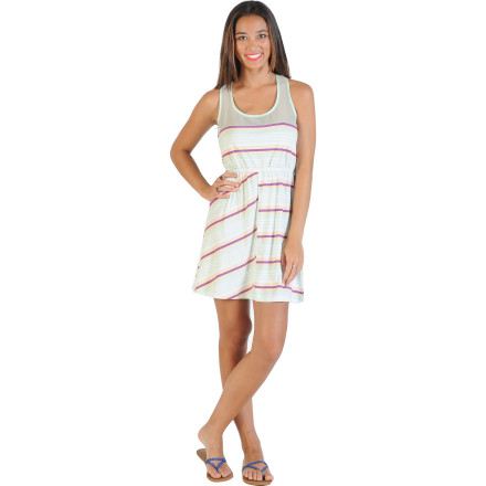 Surf Summer is just better when you're in a dress, so enjoy the warm weather from morning until well into the night in the Volcom Glass Planes Women's Dress. Lightweight cotton blend fabric is super soft and breathable to keep you comfortable during the dog days of summer, and it has enough style for late nights out on the town. - $49.45