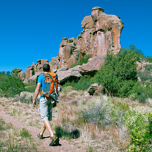 Camp and Hike Great hiking and rock climbing...and stay at Penitente Canyon Campground in Colorado. Has 22 sites.  No reservations; 719/852-5941.