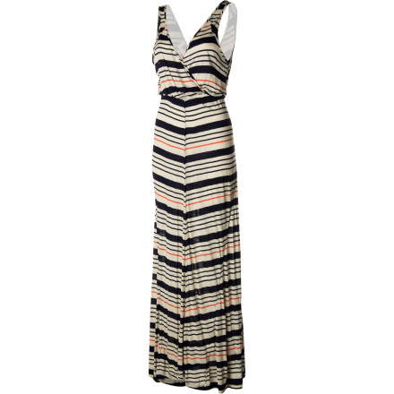 Who knew that dressing up and looking fabulous could be so easy The QSW Inlet Stripe Maxi Dress offers oodles of style that's absolutely effortless. Wear it with an eye-catching belt when you're going for drama, or wear it without when you just want to kick back without looking like a hobo. - $68.00