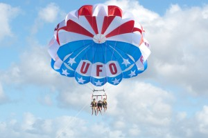Wake UFO Parasailing in Maui call 800.359.4836 for a thrilling time