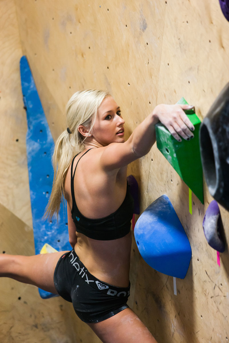 Climbing Pro climber Sierra Blair-Coyle is having a moment.  Article by Johnie Gall posted May 16, 2013