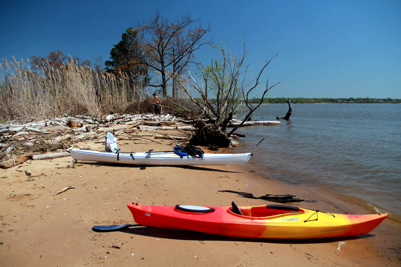 Kayak and Canoe Camp at Elk Neck State Park for easy spring kayak adventure.  Article by Johnie Gall posted May 6, 2013