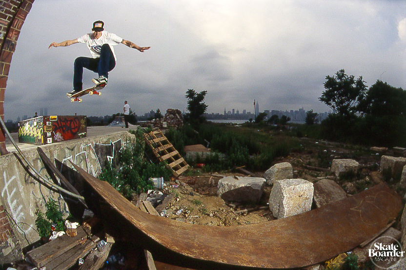 Skateboard Jason Adams - Ollie. This was from a trip Pat Smith put together while filming for Label Kills back in 2000 or 2001. We drove from DC to Chicago, back to DC and up to New York. This was shot at 7th St. and Kent Ave in Brooklyn where now you can find a pic