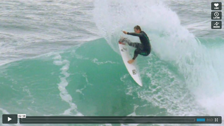 Surf Middle Man - Shaun Burns has had some luck finding waves at home on the Central Coast.
