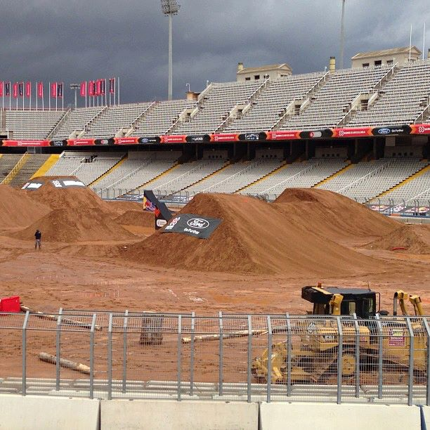 Motorsports Freestyle course is looking prime! Get ready for some X Games FMX! http://www.metalmulisha.com/blog/2013/05/metal-mulisha-ready-to-take-on-x-games-barcelona/