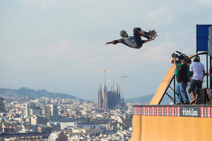 Skateboard PLG flying high in Barcelona at X Games!