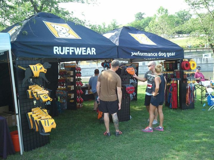 Camp and Hike All set up and ready for a great weekend at the Dominion Riverrock in Richmond, VA! 