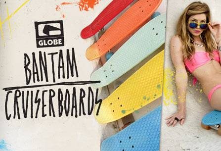 Skateboard Vinyl cruiser board from Globe. New colors! So much fun.....http://bit.ly/YOQX5k