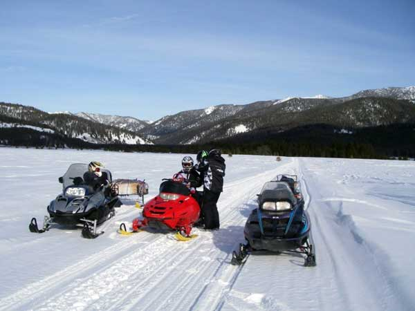 Snowmobile Explore the backcountry with Deadwood Outfitters in Cascade Idaho.  Check them out at deadwoodoutfitters.com