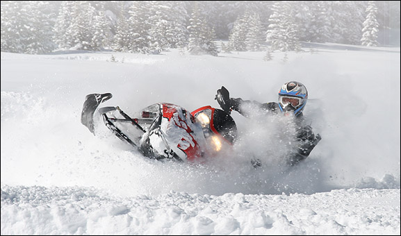 "Snowmobile With an average snowfall over 400"", there are plenty of opportunities for deep snow powder expeditions right out the front door of Electric Mountain Lodge!"