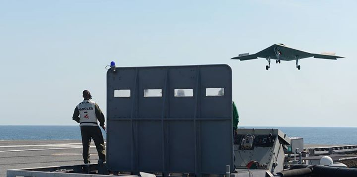 Guns and Military BREAKING NEWS: The X-47B has accomplished the first unmanned carrier touch and go aboard USS George H.W. Bush (CVN 77). 