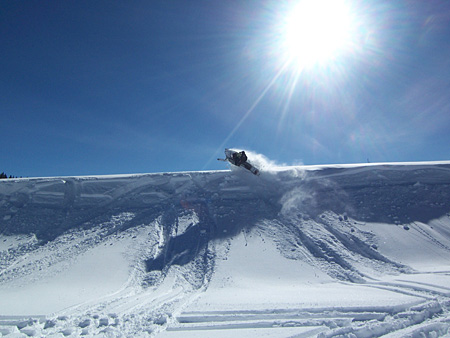 Snowmobile Country Lodge in Montrose, CO receives 400 to 500 inches of powder in the mountains. Great destination...check out at: countrylodgecolorado.com