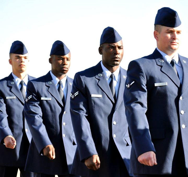 Guns and Military We're congratulating our new Basic Military Training graduates today with a special Air Force insignia Vine video! Check out the Vine video at http://bit.ly/19Eq6uk, and watch the live BMT graduation video stream from Lackland JBSA at http://bit.ly/106Tox