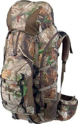 Hunting After six long years in the making, Badlands has delivered the Realtree XTRA Summit Medium Hunting Pack equipped with mountaineering toughness. Built to carry everything your legs can handle, this sizable yet surprisingly lightweight pack delivers even support and stability with its tough polycarbonate frame, hip belt and an AirTrack Suspension system that allows for airflow across your back. Able to secure and carry a rifle or a bow, this workhorse of a pack is built of 900-denier ripstop fabric to withstand years of rugged terrain and constant abuse. This huge-capacity pack offers three inner compartments and seven pockets with easy-access zippers. Constructed of durable, 100% nylon fabric with a three-layer, polyurethane coating for maximum waterproof protection. Accommodates a 95-oz. hydration reservoir (not included). Imported. Capacity: 4,700 cu. in. Empty weight: 6 lbs. 4 oz. Camo pattern: Realtree XTRA. Color: Realtree XTRA. - $279.88