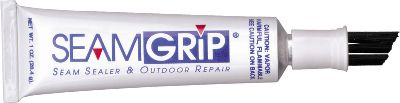 Camp and Hike Permanently seal seams and leaks, repair tears, patch holes on tents, packs, sleeping pads and even rainwear with Seam Sealer urethane repair adhesive from Seam Grip. Includes a handy brush applicator. Imported. Size: 1 oz. Type: Tent Accessories. - $7.49