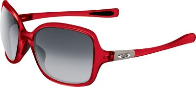 A thin profile, a bold shape and intricate detailing around the hinges, its no wonder these Oakley Womens Obsessed Nonpolarized Sunglasses have become an obsession. They sport Plutonite lens material that filters 100% of UVA, UVB and UVC rays. Meets or exceeds Z80.3 optical and impact standards. Smooth Iridium coating on lenses further cuts down on glare and balances light. Lightweight O Matter frames prevent nose pads from leaving a mark. A three-point fit with Unobtainium ear pads and nose pads prevent slipping - keeping lenses in the ideal optical position. Protective eye case included. Frame Material: O Matter. Type: Non Polarized. Type: Non Polarized. Frame Color: Cherry. Gender: Women's. Fits Size: L. Lens Material: Plutonite. Lens Color: Black Gray Gradient. Lens Color Black Grey Gradient. Style Cherry. - $130.00