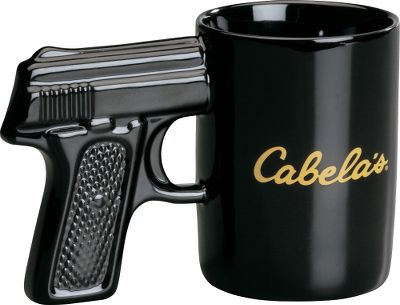 Lock and load with your favorite beverage and the Cabelas Gun Mug! This ceramic 16.9-oz. mug is naturally insulated, so it helps keep hot liquids hot and cold liquids cold. Comfortable pistol grip. Microwave and dishwasher safe. Colors: Black, Pink. Color: Black. - $10.99