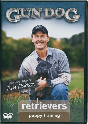 Entertainment Professional trainer and breeder Tom Dokken will take you through all the steps of choosing a puppy and training him to be the perfect gun dog. Using his pressure on, pressure off system, your retriever puppy will be made into the best hunting buddy for waterfowl and upland game birds. Teaching all the basic commands sit, down, come, heel, kennel, place and no, along with preliminary retrieving for water work, live birds, decoys, boats and gunfire. Hosted by Gun Dog Magazine editor Rick Van Etten. 59 minutes. - $24.99