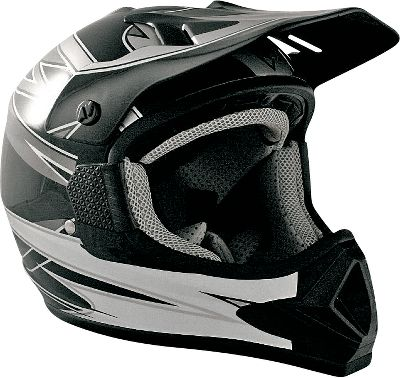 Motorsports Off-road riding is tough on equipment, and the MX helmet offers the performance and features you need at a price that wont break the bank. The lightweight advanced ABS shell is DOT-approved and has an adjustable sun visor and a double D-ring chinstrap. The mesh-covered top ventilation with rear exhaust ports keeps you cool. The comfort liner with microsuede will help keep you dry and is removable for washing.Sizes: S-L.Color: Black/Grey. - $15.88