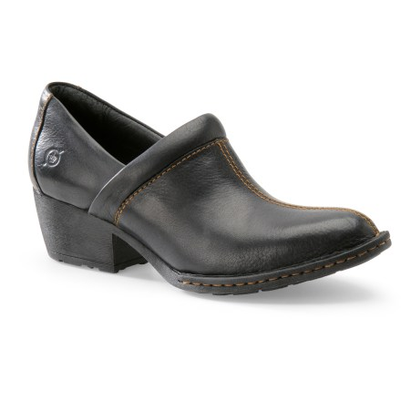 With supple leather, a supportive fit and not-too-high heels, the Born Kinney shoes combine the sophisticated style of a boot with the ease of a slip-on. - $20.73