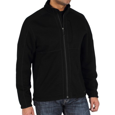 When that lightweight jacket just doesn't cut it, upgrade to the ExOfficio Alpental jacket. Worn under a rain jacket as a midlayer or on its own in dry weather, it keeps you cozy and warm. Warm, breathable polyester fleece dries quickly and insulates even when wet. Zippered hand pockets and chest pocket provide storage. Spandex at hem and cuffs seals in warmth and keeps wind from sneaking in. Closeout. - $34.73