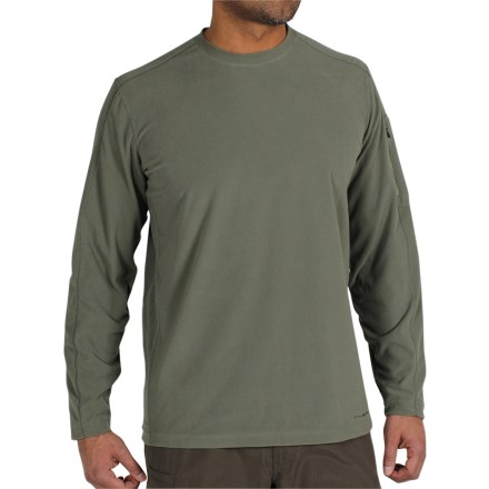 As the perfect compromise between your favorite T-shirt and your coziest sweater, the ExOfficio Migrator crew microfleece shirt delivers soft, lightweight warmth without being bulky. - $44.73