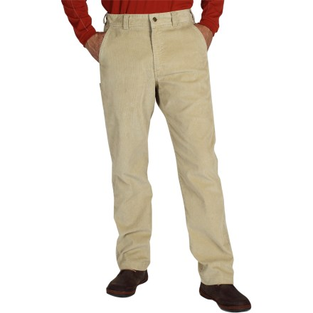 Camp and Hike Classic corduroy gets an update with polyester and a touch of spandex, making the ExOfficio Flexcord pants just as comfortable as your old favorites but with more flexibility and resiliency. Cotton/polyester blend with a touch of stretch is lightweight, breathable and soft against skin. Hand pockets; drop pocket on right leg; hidden zippered security pocket on left hand pocket. Closeout. - $24.73