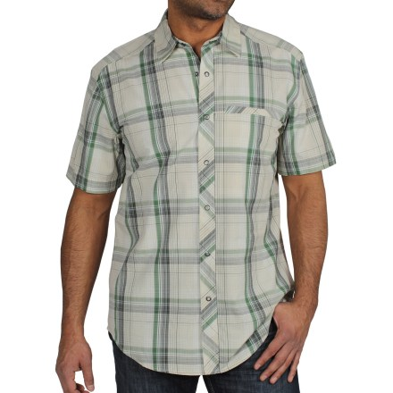 Soft, lightweight and durable, the ExOfficio Roughian Macro Plaid shirt lets you look and feel great for casual day at the office or hanging out with your friends. Cotton/lyocell/nylon blend fabric is soft and comfortable. Zippered left chest security pocket. Critical seams are moved off the shoulder for comfort while wearing a pack. Closeout. - $22.73