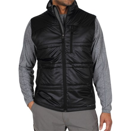 The ExOfficio Storm Logic vest offers lightweight insulation and also packs down into a travel pillow so you can catch a few winks while you're en route. - $59.73