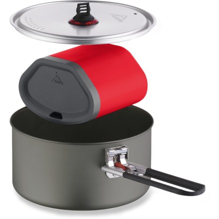 Camp and Hike The lightest, most compact cookware system that MSR offers, the QuickTM Solo is the solution for simple, one-pot meals on your backpacking adventures in the mountains. - $59.95