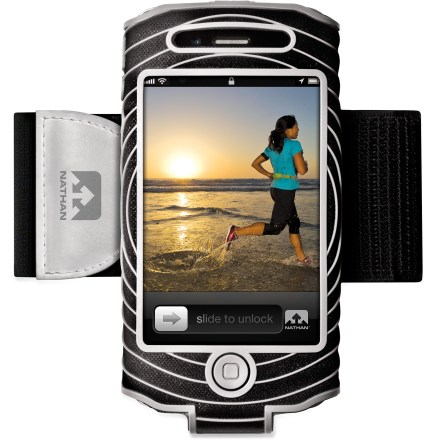 Entertainment If your phone is as essential part of your workout, keep it secure with the Sonic Boom armband for iPhone 4/4S. It fastens snugly around your bicep so it can keep up with you mile after mile. - $8.73