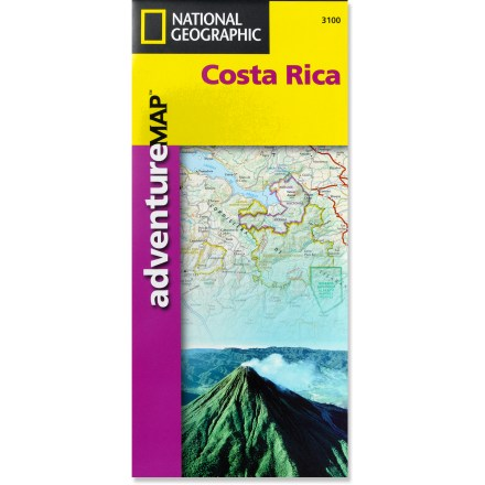 Camp and Hike Plan your trip and explore Costa Rica with this National Geographic map, featuring topography, detailed maps and useful guide information. - $11.95