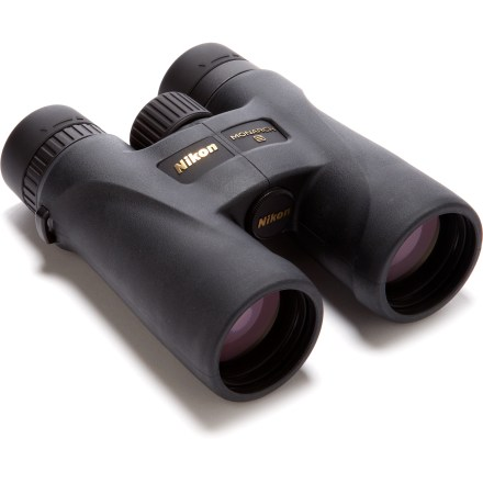 Camp and Hike Treat your eyes to the Nikon Monarch 5 10 x 42 binoculars. They offer powerful magnification, brightness, high resolution and fog-proof, waterproof design that's great for all your outdoor adventures. - $365.00