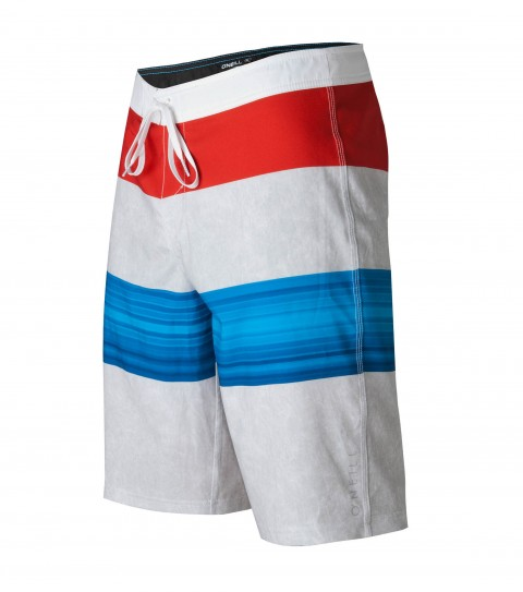 "Surf O'Neill Jordy Freak Boardshorts.  Epicstretch; 21"" outseam boardshort features superfly closure; locking drawcord; contrast fabric accents; back pouch pocket and screened logos. - $33.99"