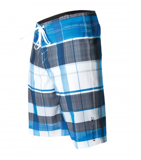 "Surf O'Neill Machine Boardshorts.  Epicstretch; 22"" outseam boardshort features superfly closure; single welt side pocket; embroidery and screened logos. - $19.99"