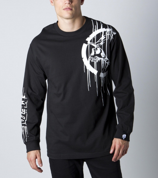 Motorsports Metal Mulisha Mens tee.  100% cotton longsleeve tee with front screen and sleeve screen. - $18.99