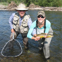 Flyfishing Stay at the Gallatin River Lodge and fish the Gallatin, Madison, Jefferson, Missouri and Yellowstone.  Check them out at: grlodge.com