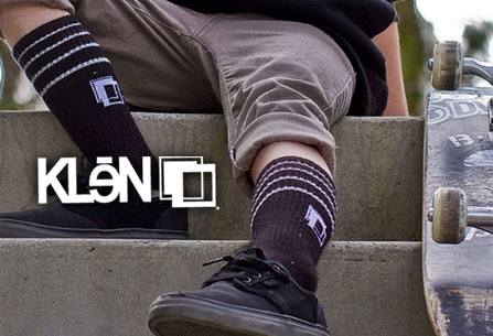 Skateboard KLeN. Bamboo made socks and underwear. Highly recommended you change those daily. http://bit.ly/10aaxtD