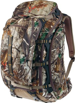 Hunting After four years in the making, Badlands has delivered one of the most visceral, all-purpose hunting packs ever made the Realtree XTRA Clutch Hunting Pack. From the silent, molded-foam suspension system to the internal T-6 aluminum frame that distributes weight evenly while walking across rugged terrain, this pack is built to keep your backcountry hunting moving forward. Equipped with a generous storage capacity and a lightweight feel, this versatile pack has four nylon compression straps that secure your rifle or bow, and its hunt-ready design is perfect for attaching all kinds of accessories. Made to do everything, this front-suspension-entry, bucket-lid pack boasts a built-in meat bag that doubles as a rain fly, four internal compartments and nine strategically placed pockets with zippers. Constructed of durable, 100% nylon fabric with a three-layer, polyurethane coating for maximum waterproof protection. Accommodates a 95-oz. hydration reservoir (not included). Imported. Capacity: 2,900 cu. in. Empty weight: 7 lbs. 4 oz. Camo pattern: Realtree XTRA. Color: Camo. Type: Multi-Day Packs. - $339.99
