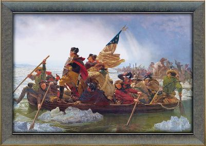 Hunting Show your pride in Americas rich history with the Scott Kennedy American Heritage Series. Gicle print. Framed canvas.Dimensions: 24L x 17W.Available: Washington Crossing the Delaware River Painted by Emanuel Leutz in 1851.Signing of the Declaration of Independence Painted by John Trumbull in 1818.Whytes Lake, Estes Park, Colorado Painted by Albert Bierstadt in 1877.Buffalo Hunt Painted by Edgar Samuel Paxson in 1905. - $99.99