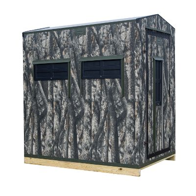 Part of the Wild One series, this easy-to-elevate Shadow Hunter Timber Gun/Bow hunting blind features a lightweight, rugged vinyl shell. The roof is insulated to lock in warmth. A carpeted, rodentproof floor silences your movements. Rain and snow roll right off the peaked roof. Upper and lower vents keep air circulating through during warm-weather hunts. Upper shelf keeps ammo and calls easily accessible.Window dimensions: Wall (8H x 22-3/8W).Door (8H x 22-3/8W).Corner (8H x 22-3/8W).Weight: 270 lbs. - $999.99