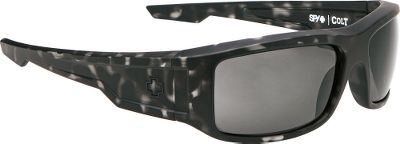 The sleek Grilamid frames of the SPY Optic Colt Nonpolarized Sunglasses are rugged enough for your active lifestyle. Grey polycarbonate ARC lenses deliver 100% UV protection. Durable metal hinges and detail. Carry pouch included. Frame Material: Grilamid. Type: Non Polarized. Frame Color: Matte Black. Gender: Men's. Fits Size: M/L. Lens Material: Polycarbonate. Lens Color: Gray ANSI. Lens Color Grey Ansi. Style Matte Black Frame. - $89.99