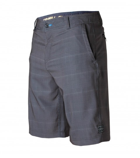 "Surf O'Neill Hybrid Freak Shorts.  Epicstretch w/ XT2 21"" outseam boardshort features zipper fly; internal waistband drawcord; front pockets with zippers; back stow pocket; woven labels and screened logos. - $35.99"