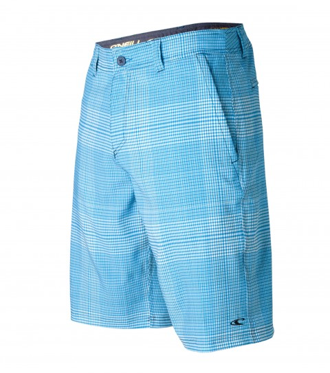 "Surf O'Neill Insider Hybrid Shorts.  Epicstretch; 21"" outseam boardshort features zipper fly; internal waistband drawcord; front pockets with zippers; back pockets; embroidered and screened logos. - $24.99"