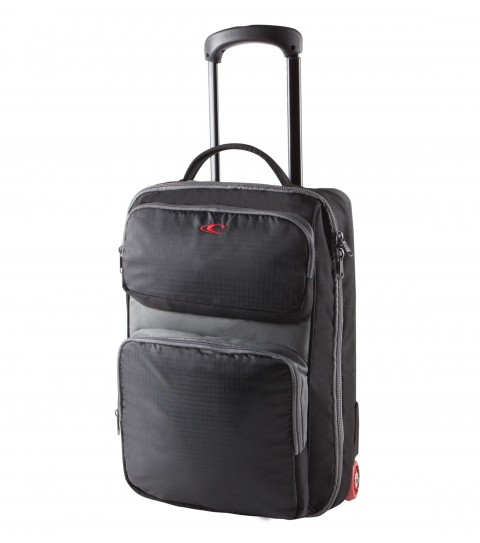 "Surf O'Neill Prospect Luggage Bag.  Carry on size roller bag suitcase, compression molded body, retractable hande, replacable urethane wheels, exterior organizer pockets.20.5""H x 13.25""W x 9.5""D - $98.99"