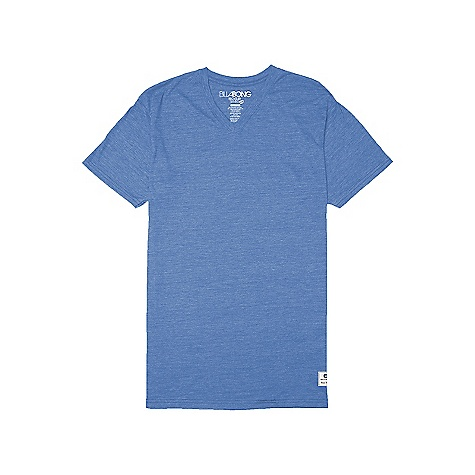 Surf Billabong Men's Essential V-Neck Tee DECENT FEATURES of the Billabong Men's Essential V-Neck Tee Ringer tank top with an essential woven label and pvc-free heat sealed neck label The SPECS 50% recycled polyester 50% organic cotton - $19.95